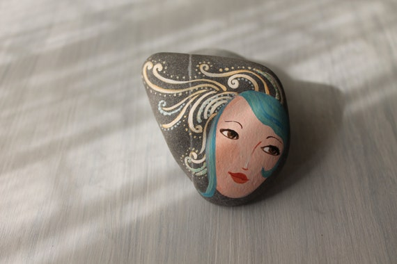 Painted Stone Cute Painting On Stone Beach Pebbles Art
