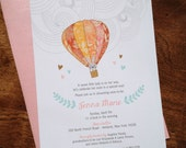 Baby Balloon Shower Invitations for Laura