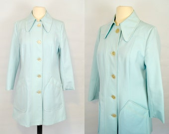1960s Minty Blue/Aqua Spring/Summer Jacket by Fair Haven Fashions