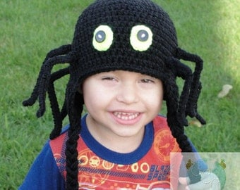 Creepy Carl Spider Beanie with pose able legs - Crochet - Instant Download Pattern