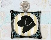 Dog Silhouette Ornament in Fabric - Golden Retriever