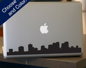 New Orleans Skyline Decal - For Car Window,  Laptop, Wall