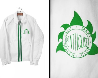 Vintage 60s Club Jacket Penthouse California Health Club Cotton Windbreaker - Medium