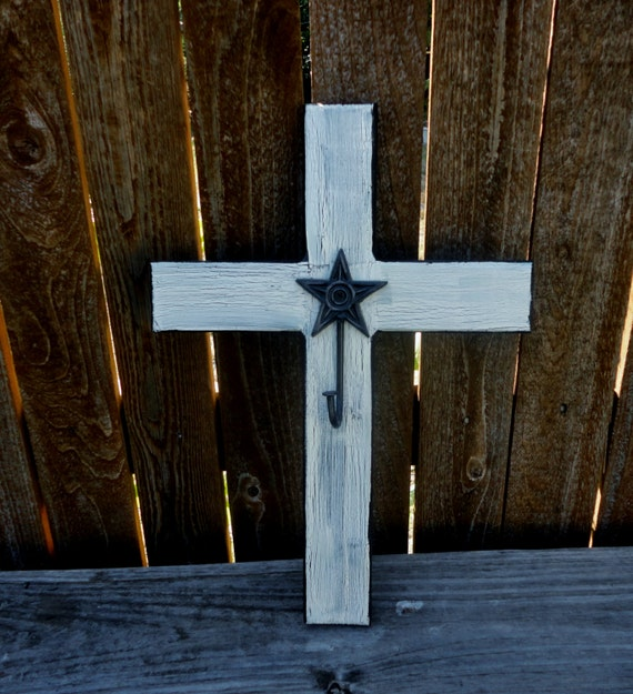 Decorative wall cross wooden cross with hookwhite by kdbcrafts Home decor wall crosses