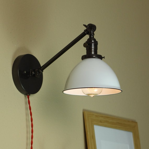 Industrial Wall Lamp Articulating Wall Sconce White