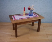 miniature dining table 1 inch scale