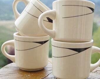 Art Deco Mugs Made in Brazil Set of 4