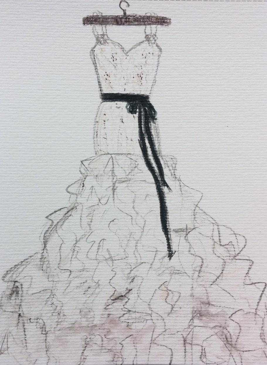 wedding dress drawing custom siren pencil wedding dresses zoom
