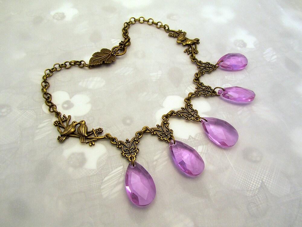 Purple Wedding Sansa Stark Inspired Necklace Game Of Thrones