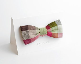 Checkered bow tie - double sided
