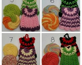 SALE !  Crocheted Wash / Dishcloths SET OF 4