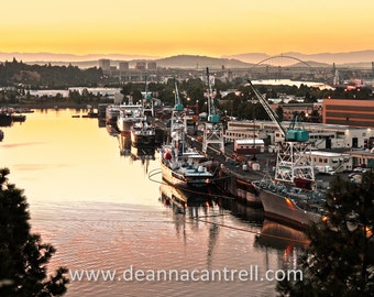 16x24 Canvas Swan Island Sunrise, Portland, Oregon Photography
