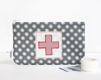 First Aid Zipper Pouch, Bandage Bag, Summer, Kids, Glamping, Camping, Back To School