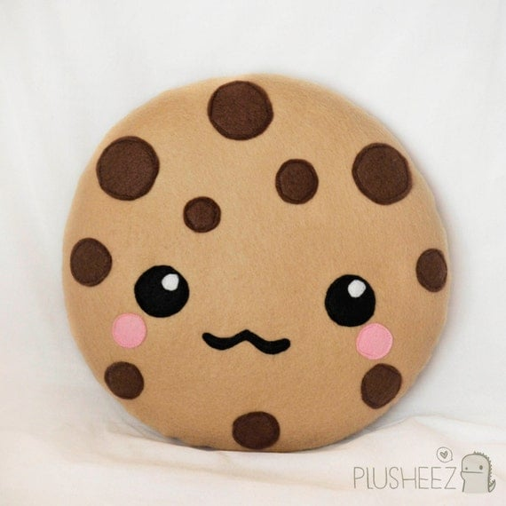 Kawaii cookie plush toy cushion cute chocolate chip by ...