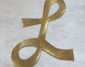 Custom Iron On Applique Letters Iron On Cursive or Block Lettering- Any Letter Number Customize with over 200 fabric options