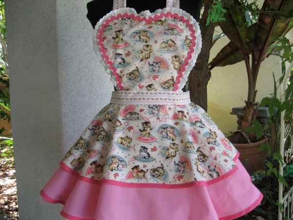 Custom Order for Kim    Yui Kokeshi and Smitten Kitten Aprons