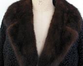 Vintage  Mink Fur Collar 1950s  COLLAR ONLY