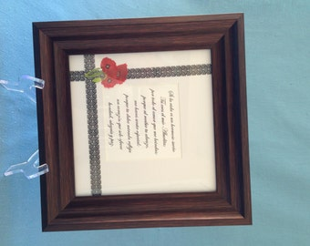 Framed Poem for Grandma or Aunt in Spanish