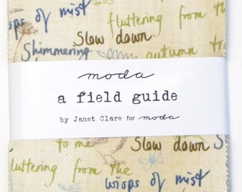 Sale A Field Guide charm pack by Janet Clare for Moda fabric