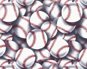 Baseball cotton fabric from Timeless Treasures fabrics.SPORT-C2159