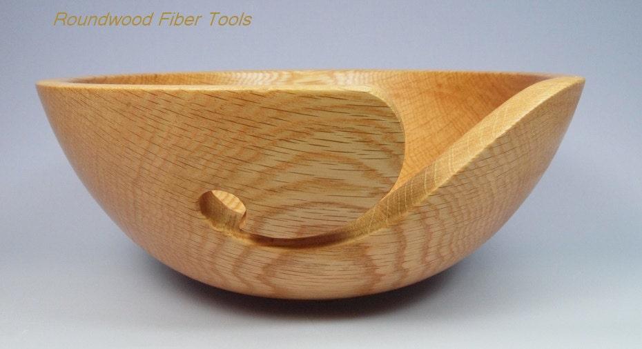 Knitting Bowls Wood : Maine oak yarn bowl wooden hand turned knitting