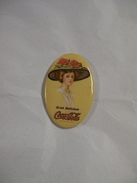 Coca Cola Pocket Mirror Vintage Reproduction By