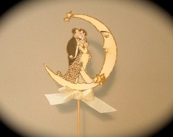 Art Deco Moon Cake Topper : Unavailable Listing on Etsy