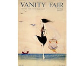Altered Art - Vintage Vanity Fair Magazine Cover  Giclee Print  5x7