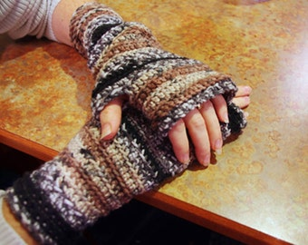 Crocheted  Wristers - Fingerless Gloves - Texting Gloves - Wrist Warmers -  Adult sizes - Arm Warmers