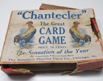 Chantecler Card Game.  Standard Playing Card Co. Chicago