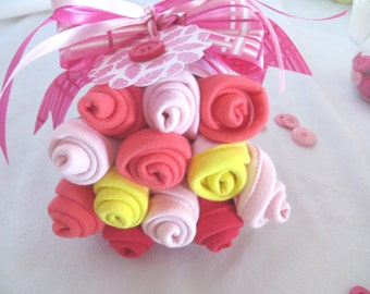 Washcloth Bouquet for Baby Girl