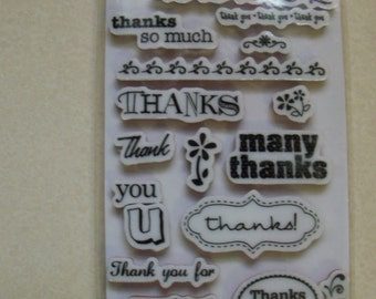 Many Thanks Rubber Stamps
