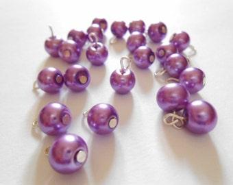 Light Purple Glass Pearl Dangle Beads
