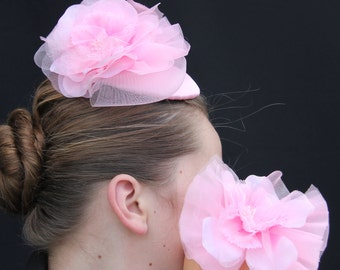 Pink Mother and Baby Girl Fascinators, Baby's First Fascinator, Mother and Baby Fascinator, Matching Mommy and Me Fascinator and Headband