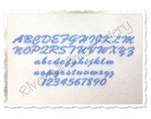 "Small Mini Casual Script Machine Embroidery Font Monogram Alphabet - 1/2"" & 3/4"" Sizes"