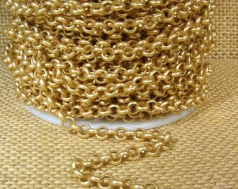 25ft 4.8mm Rolo Chain - Matte Gold - 4.8mm Links - CH80