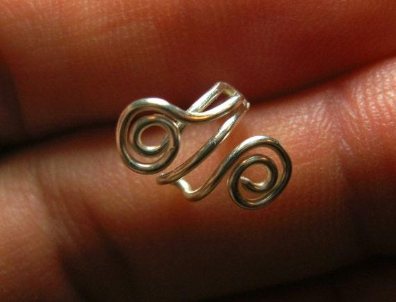 helix piercing handmade ear cartilage piercing