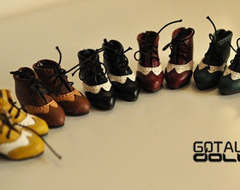 GOTALL doll handmade Vintage High Heels Short Boots for Blythe doll - doll shoes - 5 colors in