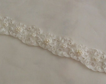 Beaded Soutache Trim Wedding Dress