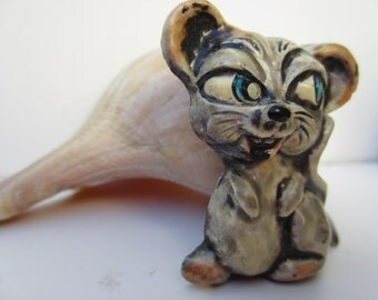 Interesting Plastic Mouse Brooch- West Germany