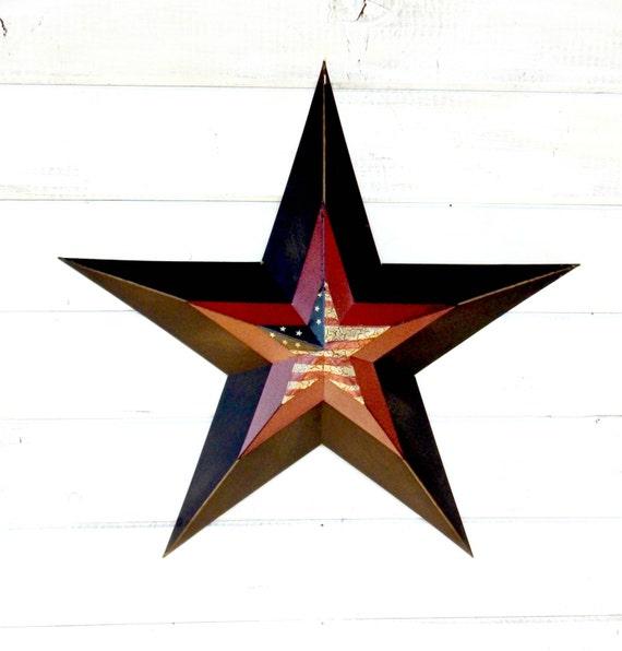 Star Decor-PRIMITVE BARN STAR Patriotic Star-Rustic Wall