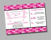 Pink Bachelorette Invitation PRINTABLE INVITATION Pink Lingerie Party Bridal Shower
