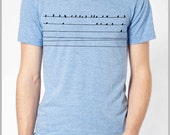 Bird on a Wire Men's T Shirt American Apparel XS, S, M, L, XL 9 Colors Gift for him boyfriend