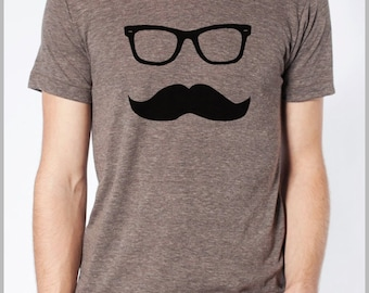 Men's Mustache T Shirt Movember Shirt American Apparel Tee XS, S, M, L, XL 9 COLORS