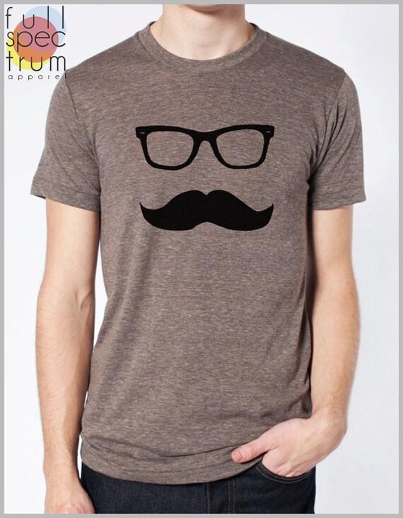 Men's Mustache T Shirt Movember Shirt American Apparel Tee XS, S, M, L, XL 9 COLORS