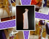 Monster High Inspired Doll Clothes -  Handmade Lavender Sweater Dress