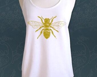 Bee design 1 Soft Cotton/Poly Racerback Tank