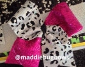Pink Sequin/Cheetah Cheer Bow