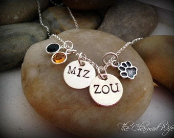 Hand Stamped College Jewelry - Personalized for YOUR school - Team Spirit - School Spirit - Personalized Jewelry