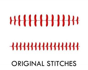 Baseball Stitches Machine Embroidery Digital Design File  SIX SIZES 4x4 5x7 6x10